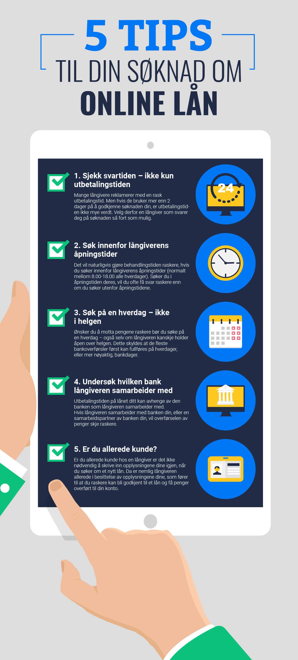 5 tips til din søknad om online lån